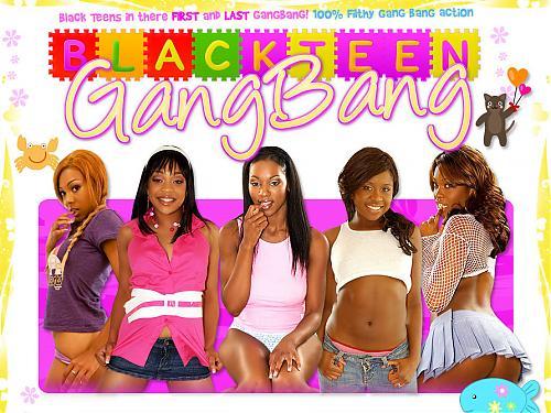 Несколько белых парней трахают одну негритянку (мини-пак 12 роликов от сайта [BlackTeenGangBang.com]) (2009) DVDRip