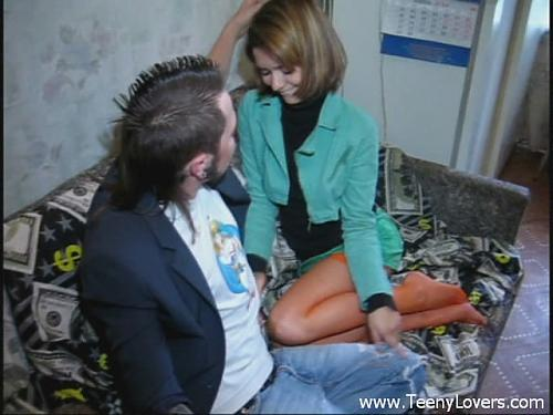 [TeenyLovers.com] Teen In Orange Nylons Takes Cock (2011) SATRip