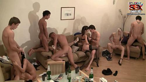 Студенческая вечеринка закончилась групповым сексом
